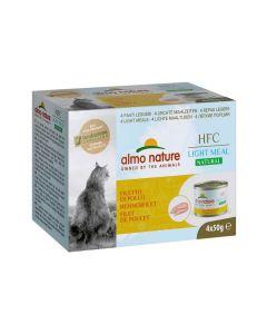 Almo Nature Chat HFC Natural Light Meat Filet de Poulet 4 x 50 g