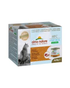 Almo Nature Chat HFC Natural Light Meat Poulet et Thon 4 x 50 g