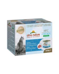 Almo Nature Chat HFC Natural Light Meat Thon de l'Atlantique 4 x 50 g