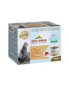 Almo Nature Chat HFC Natural Light Meat Thon et Crevettes 4 x 50 g