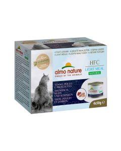 Almo Nature Chat HFC Natural Light Meat Thon, Poulet et Jambon 4 x 50 g