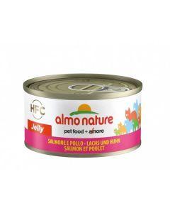 Almo Nature Chat Jelly HFC Saumon et Poulet 24 x 70 grs