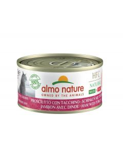 Almo Nature Chat Natural HFC Sans Céréales Made In Italy Jambon Dinde 24 x 70 g