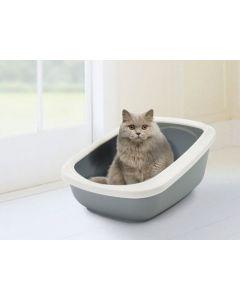 Bac à litière chat Savic Aseo Gris