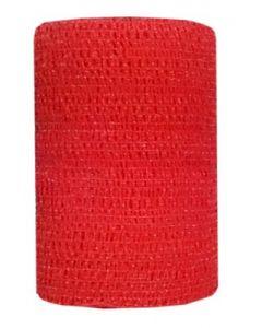 Bandes cohésives Powerflex Equin 10 cm Rouge