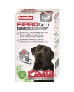 Beaphar Fiprotec Combo grands chiens 20-40 kg 3 pipettes- La Compagnie des Animaux