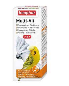 Beaphar Multi-vitamines perruches et perroquets 50 ml - La Compagnie des Animaux