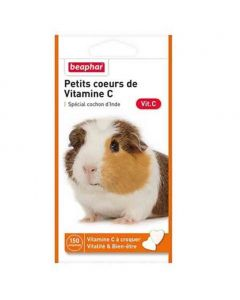 Beaphar Petits coeurs de vitamine C pour cochon d'inde 150 cps- La Compagnie des Animaux