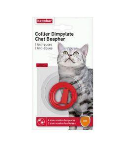 Beaphar Collier Dimpylate contre puces et tiques pour chat - La Compagnie des Animaux