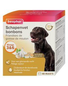Beaphar Friandises Maxi graisse de mouton & ail pour chien x40