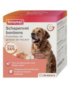 Beaphar Friandises Maxi graisse de mouton & huile de saumon pour chien x40