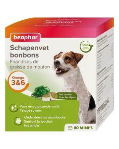 Beaphar Friandises Mini graisse de mouton & algues pour chien x80