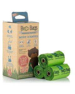 Beco Pets sacs à crottes vert à la menthe 120 sacs - La Compagnie des Animaux