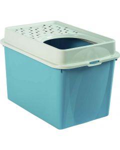 Berty Cat Toilet Top Rotho Mypet Bleu Clair - La Compagnie des Animaux
