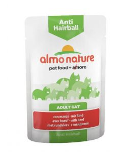 Almo Nature Chat Anti Hairball Boeuf 30 x 70 grs