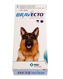 Bravecto Grand chien 20 à 40 kg 1 comprimé- La Compagnie des Animaux