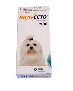 Bravecto Très petit chien 2 à 4,5 kg 1 comprimé- La Compagnie des Animaux