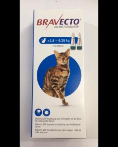 Bravecto Spot-On CHAT 2,8 - 6,2  kg 2 pipettes