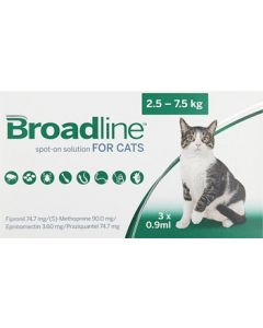 Broadline Chat 2,5 à 7,5 kg 3 pipettes
