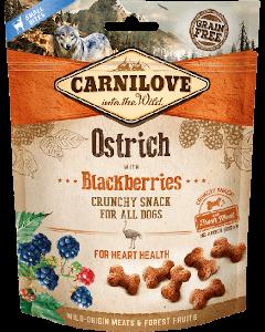 Carnilove Crunchy Snack Autruche & Mûres chien - La Compagnie des Animaux