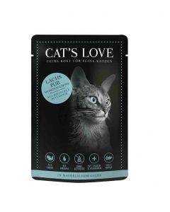 CAT'S LOVE Classic Saumon sachets 12 x 85 g- La Compagnie des Animaux