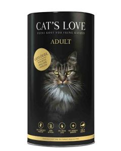 CAT'S LOVE Croquettes Adultes à la volaille 1 kg- La Compagnie des Animaux