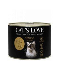 Cat's Love Senior canard sans céréales et sans gluten 6 x 200 g