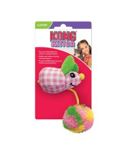 Kong Kitten Pom Tail Mouse rose jouet pour chaton - La Compagnie des Animaux