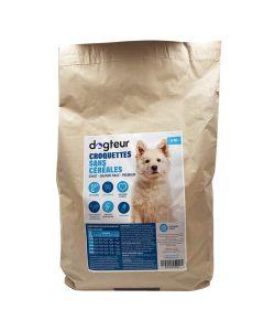 Dogteur Croquettes Premium sans céréales saumon chiot de grande et moyenne race 6 kg