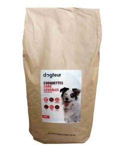 Dogteur Croquettes sans céréales au saumon et truite pour chien adulte 15 kg- La Compagnie des Animaux