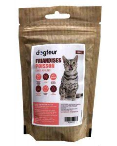 Dogteur Friandises sans céréales au poisson pour chat 100 g- La Compagnie des Animaux