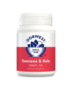 Dorwest Damiana et Noix de Kola 200 cps