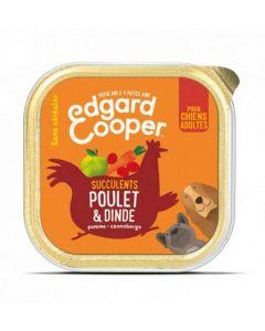 Edgard & Cooper Barquette Poulet et Dinde Chien adulte 11 x 150 g