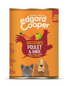 Edgard & Cooper Boite Poulet et Dinde Chien adulte 6 x 400 g- La Compagnie des Animaux