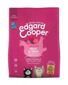 Edgard & Cooper Fabuleux Poulet & Canard croquettes sans céréales pour chaton 300 g- La Compagnie des Animaux