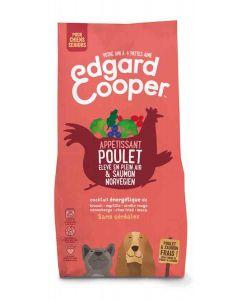 Edgard & Cooper Croquettes Poulet frais & Saumon norvégien sans céréale Chien Senior 700 g - La Compagnie des Animaux