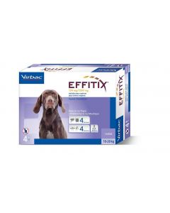 Effitix Spot On moyen chien 10 - 20 kg 4 pipettes