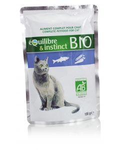 Equilibre & Instinct Emincés BIO saumon pour chat pochon 22 x 100 g