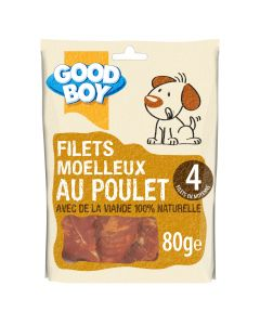 Good Boy Filets au Poulet 80 grs - La Compagnie des Animaux