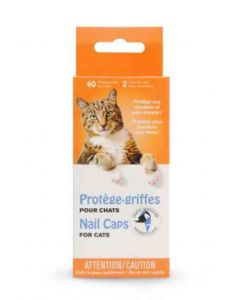 Protège-griffe Griffe Masquée pour chat transparent L