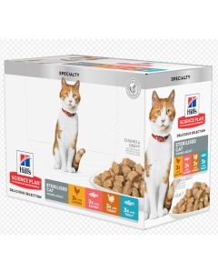 Hill's Science Plan Feline Young Adult Sterilised Tendres bouchées en sauce 12 x 85 g