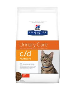 Hill's Prescription Diet Feline C/D Multicare au poulet 5 kg- La Compagnie des Animaux