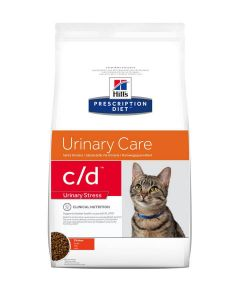 Hill's Prescription Diet Feline C/D Urinary Stress au poulet 8 kg- La Compagnie des Animaux