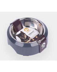 Inooko Gamelle Yoomy pour chien et chat gris foncé 300 ml- La Compagnie des Animaux