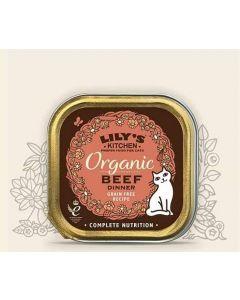 Lily's Kitchen Organic Délice de Boeuf Bio pour Chat 19 x 85 g- La Compagnie des Animaux