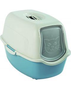 Maison de toilette pour chat Rotho Mypet Bleu Clair - La Compagnie des Animaux