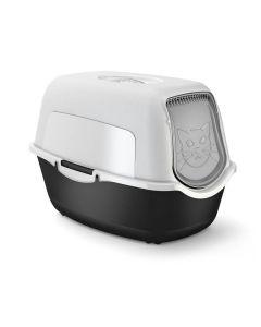 Maison de toilette pour chat Rotho Mypet Noir & Blanc