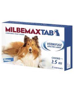 Milbemax Tab vermifuge chien de plus de 5 kg-