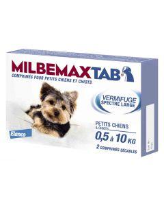 Milbemax Tab vermifuge chiots et petits chiens de 0,5 à 10kg-