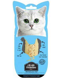 My little Friandise Filet de poulet et poisson fumé pour chat 30 g- La Compagnie des Animaux